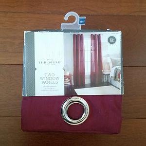 "NWT Threshold Deep red grayson 84"" drapes/curtains"